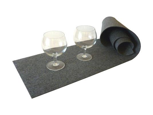 Tischläufer Filz grau