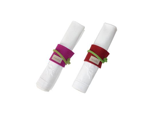 Serviettenringe zum binden rot pink