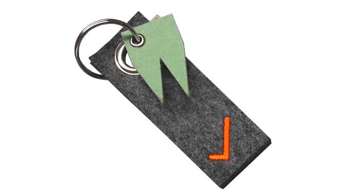 manufra Schlüsselanhänger mit Dom grün