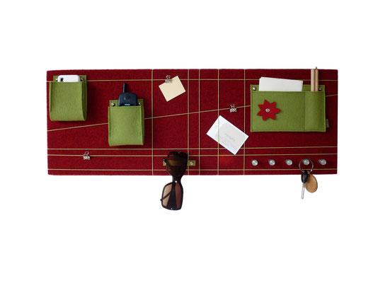 Schlüsselboard rot grün quer
