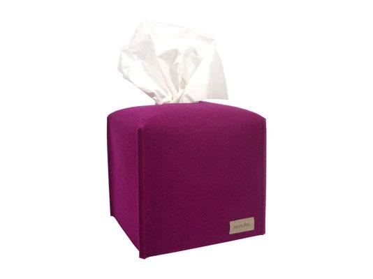 Kosmetiktuchbox Würfel pink