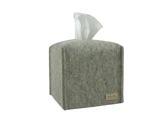 Kosmetiktuchbox Würfel hellgrau-meliert
