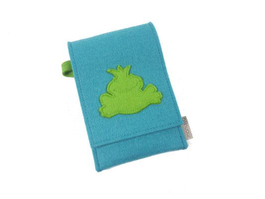 Handytasche Türkis mit Frosch grün