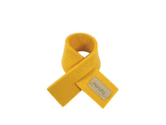 Weinmanschette Schal gelb 01
