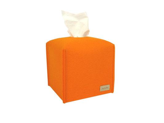 Kosmetiktuchbox Würfel orange