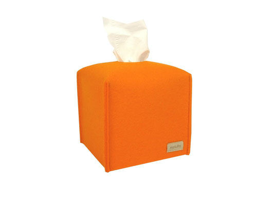 Kosmetiktuchbox Würfel orange