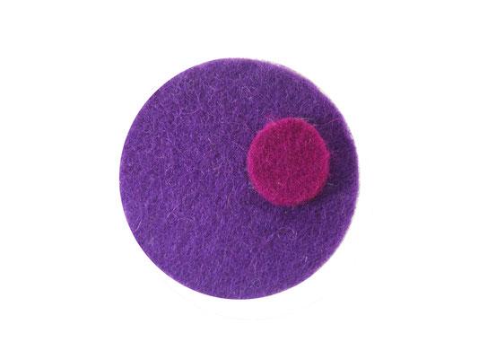 Magnet rund flieder / pink