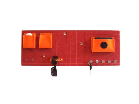 Schlüsselboard orange quer