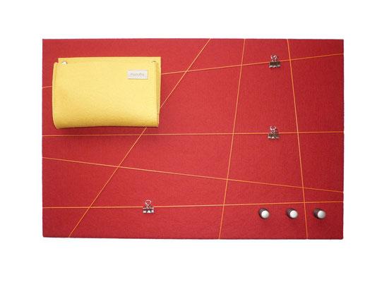 Schlüsselboard rot gelb