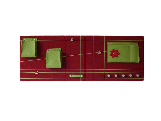 Schlüsselboard rot grün mit Blume