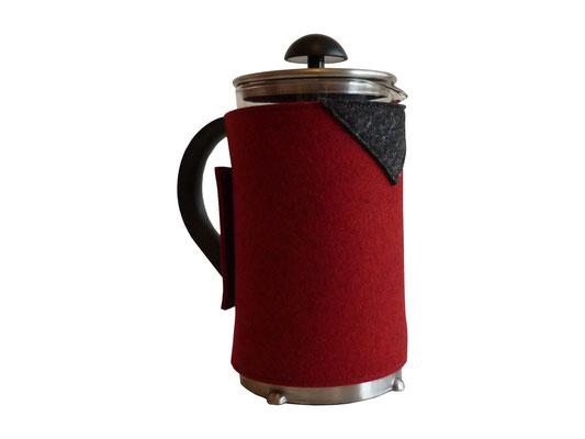 Kaffeekannenwärmer rot / anthrazit