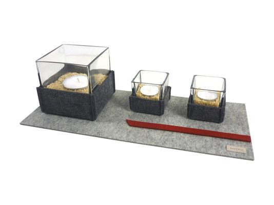 Kerzenunterlage Filz