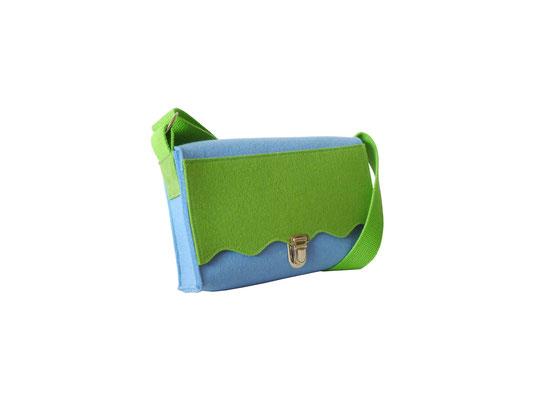 Kindertasche hellblau grün