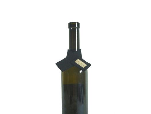 Weinmanschette Schal schwarz 40