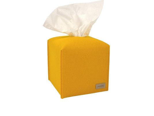 Kosmetiktuchbox Würfel gelb