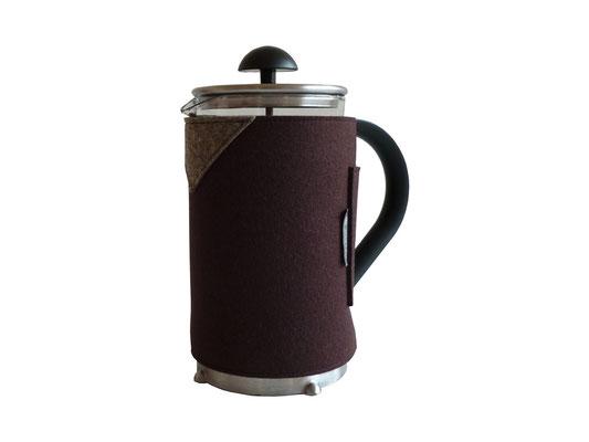 Kaffeekannenwärmer braun-/ natur-meliert