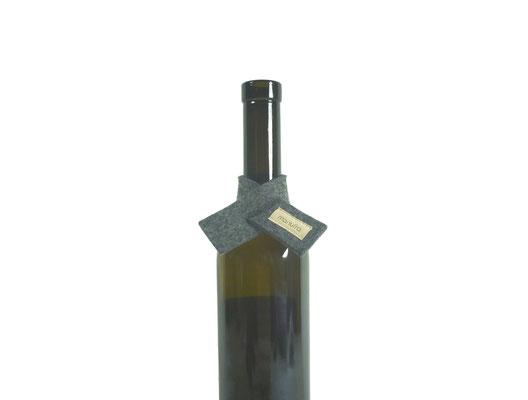 Weinmanschette Schal grau-meliert G3-8