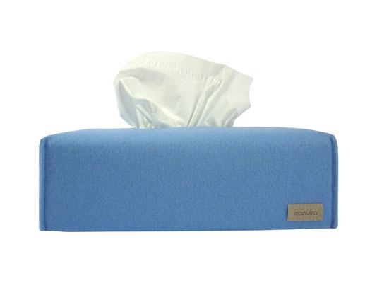 Kosmetiktuchbox lang hellblau