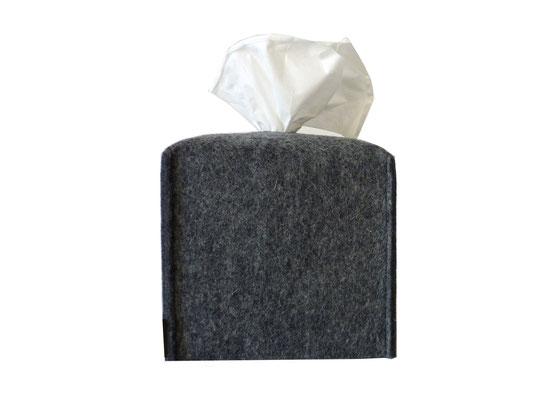 Kosmetiktuchbox Würfel grau-meliert