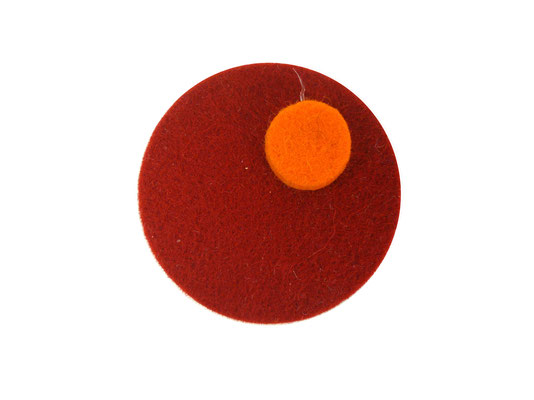 Magnet rund rot / orange