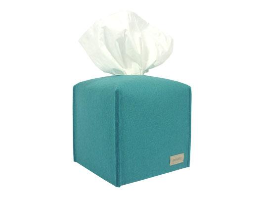 Kosmetiktuchbox Würfel türkis