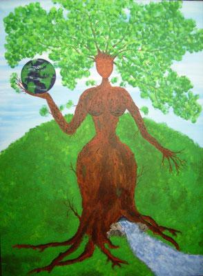 Erde-  60 x 80 cm, Acryl auf Leinwand