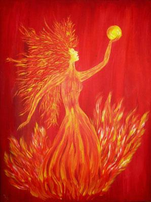 Feuer -  60 x 80 cm, Acryl auf Leinwand