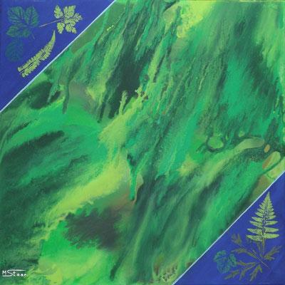 Element Erde - 50 x 50 cm, Acryl auf Leinwand