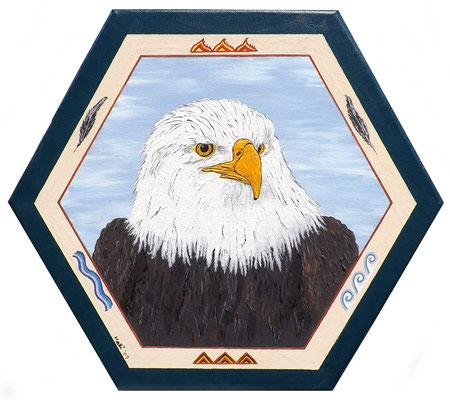 Adler - 40 Ø , Acryl auf Leinwand, (nicht mehr verfügbar)