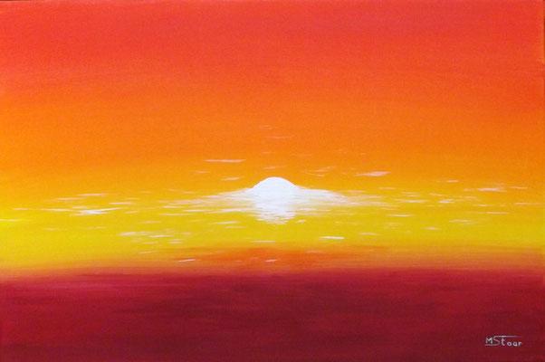 Sonnenkraft, 60 x 40 cm, Acryl auf Leinwand
