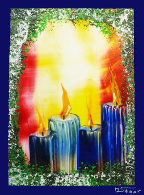 Advent - 14 ,8 - 10,5 cm, Wachs
