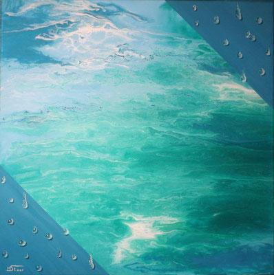 Element Wasser -  - 50 x 50 cm, Acryl auf Leinwand