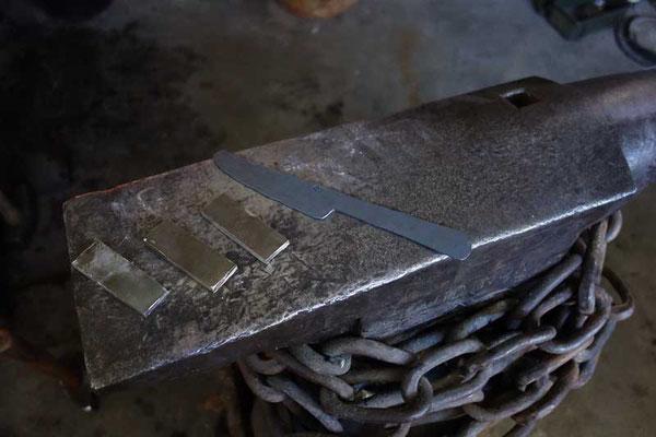 Le couteau en fin de forge