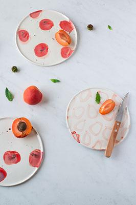 Assiettes à dessert, ©Chaïmâe Chraïbi