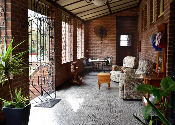 Front Verandah looking into Family Suite