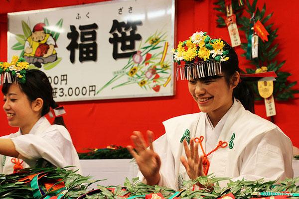 西宮神社の福娘①(十日えびす2016年)