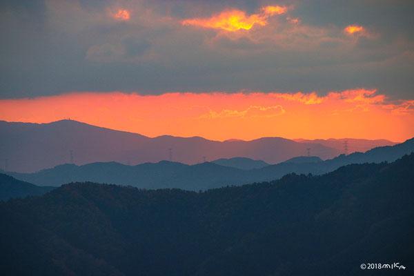高野山から眺める山々