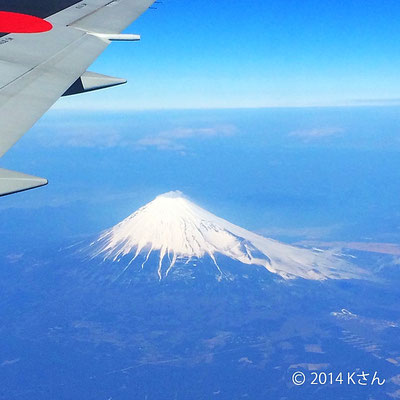 飛行機からの富士山(大阪府Kさん)