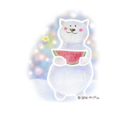 しろくまの夏(カットスイカ)