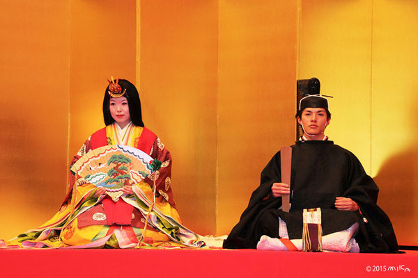 人雛のおだいりさまとおひなさま(市比賣神社ひいな祭2015年)