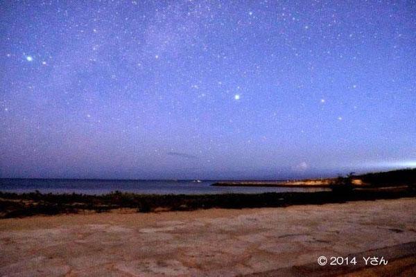 残波岬の星空(奈良のYさん)