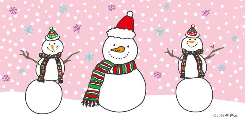 クリスマスの雪だるまたち②
