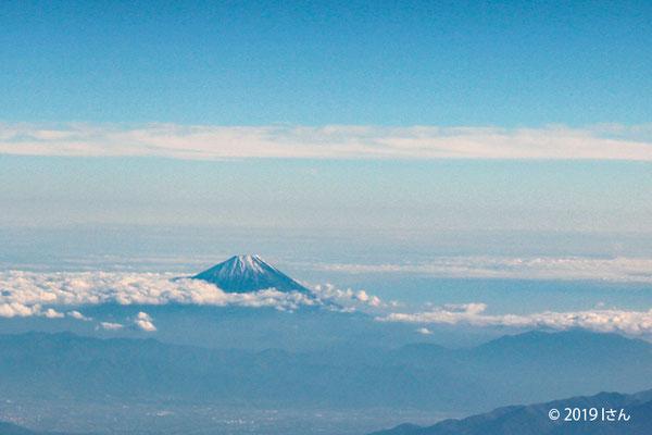 飛行機からの富士山(大阪府Iさん)