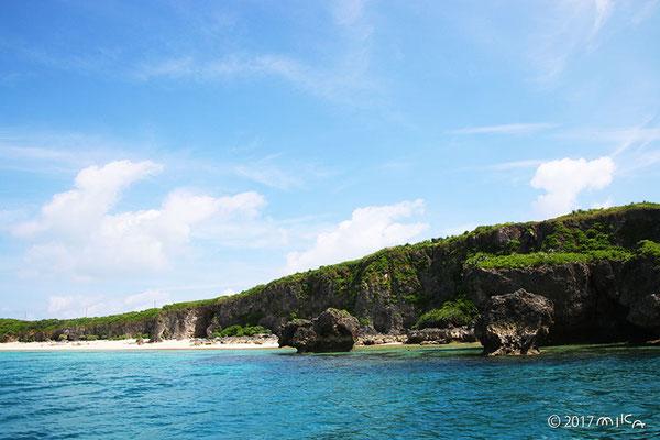池間島の海岸