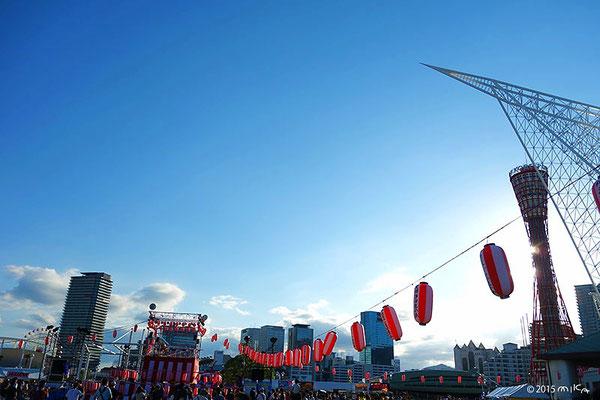 こうべ海の盆踊り大会2015(開始時)