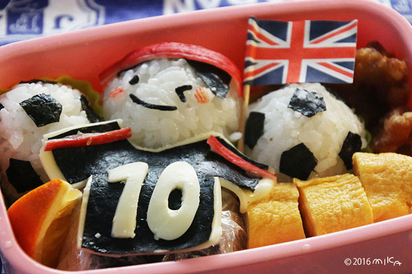 サッカー背番号10番のお弁当