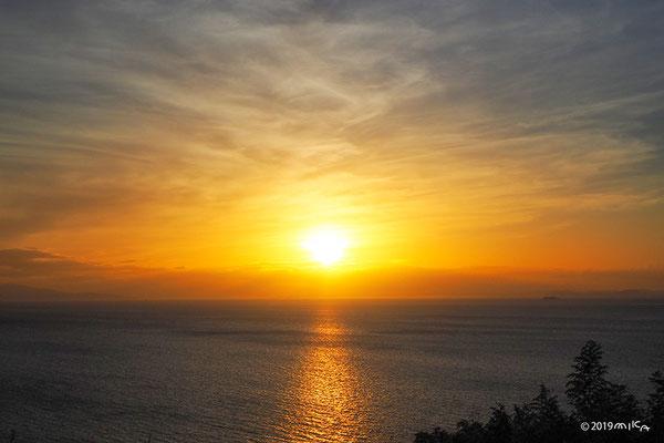 夏の夕陽(瀬戸内海)
