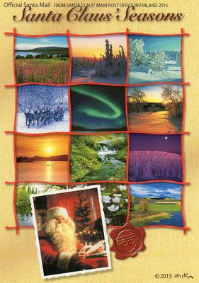 フィンランドの景色/フィンランドサンタ郵便局オリジナルポストカード2015(日本・フィンランドサンタクロース協会経由)