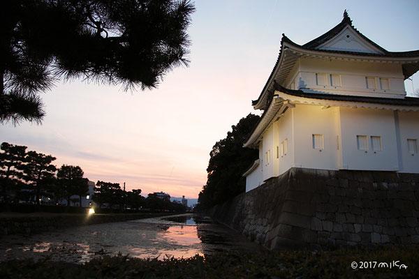 二条城のお堀