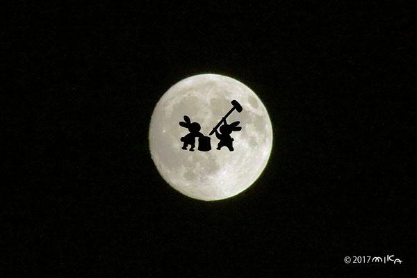 月のウサギ(2017年10月4日の十五夜)